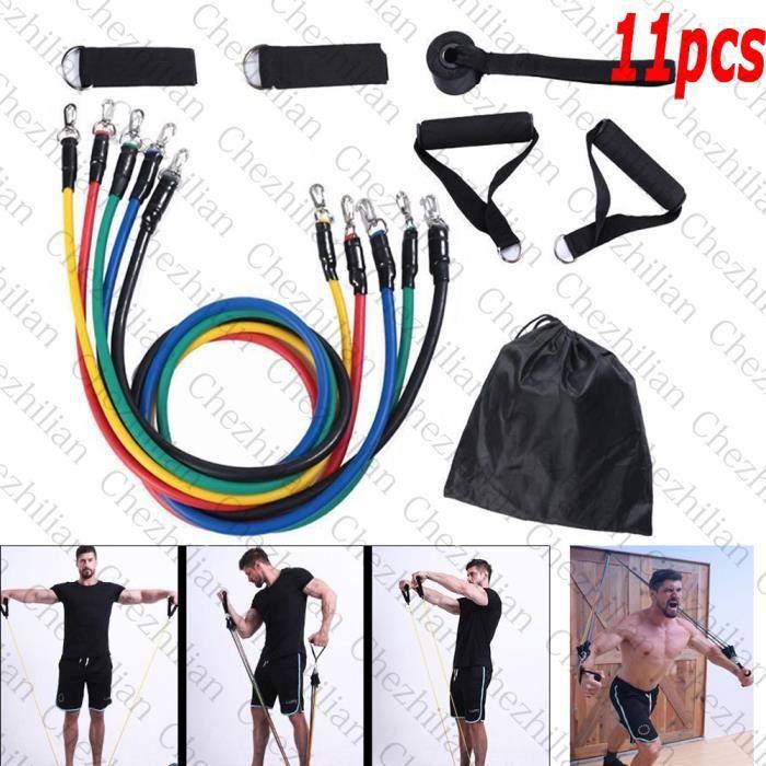 Bandes de résistance élastiques Tube élastique Exercice de fitness Yoga Pilates Gym Sport garder la forme à la maison