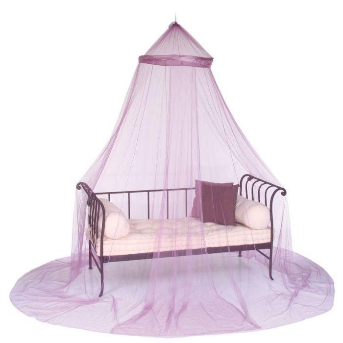 ciel de lit moustiquaire deco chambre uni ivoire