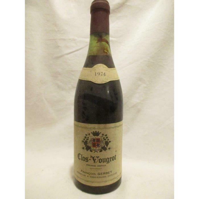 clos vougeot françois gerbet grand cru (b2) rouge 1974 - bourgogne