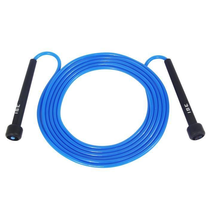 ISE Corde à Sauter Facilement réglable 3 m câble-La Poignée Souple et Câble Ajustable,Rope Skipping pour Entrainement Fitness JP1001