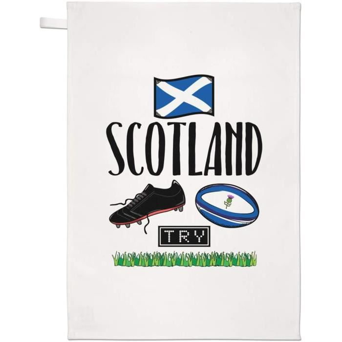 Rugby Écosse Thé Serviette Plat Tissu