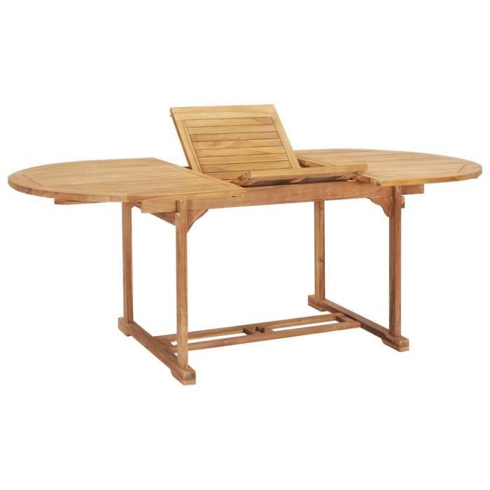 Nouveau - Table de jardin - Table d'appoint Table de reception Style Moderne extensible 150-200x100x75 cm Teck solide *76538