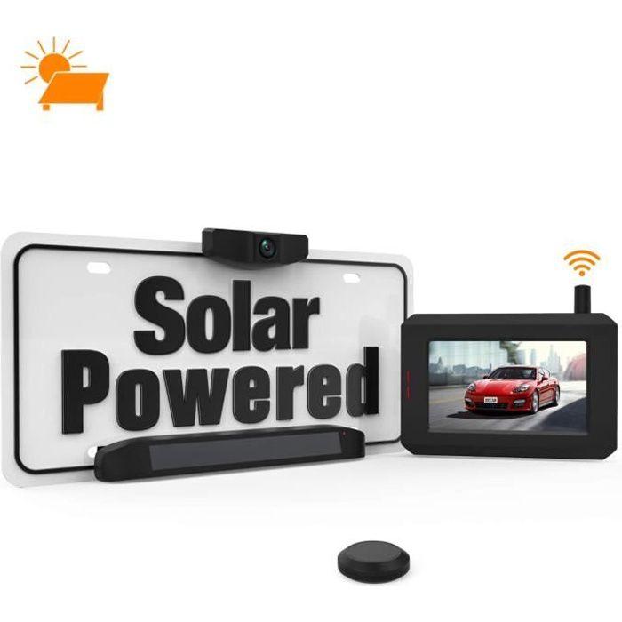 BOSCAM camére de recul sans fil, énergie solaire,Alimentée par le panneau solaire,Ecran éranche IP68(SunGo)