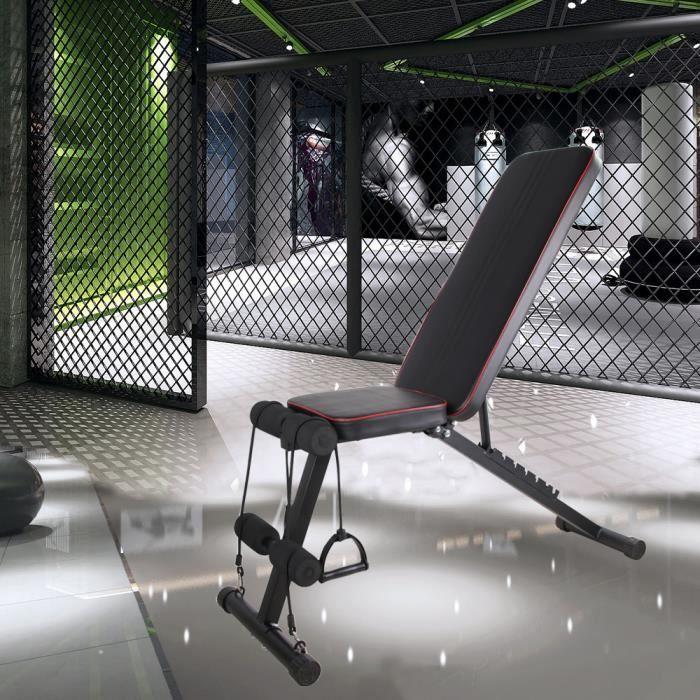 OUI-Chaise de fitness multifonctionnelle pour la maison, adaptée à l'exercice du corps entier, pliable à plat - inclinaison