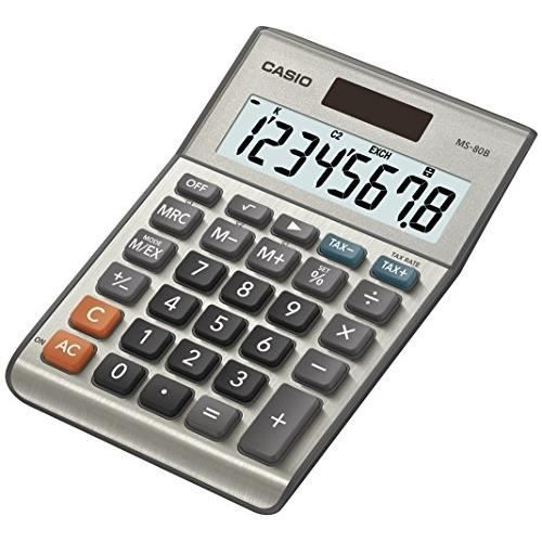CASIO Calculatrice de bureau MS80B grise