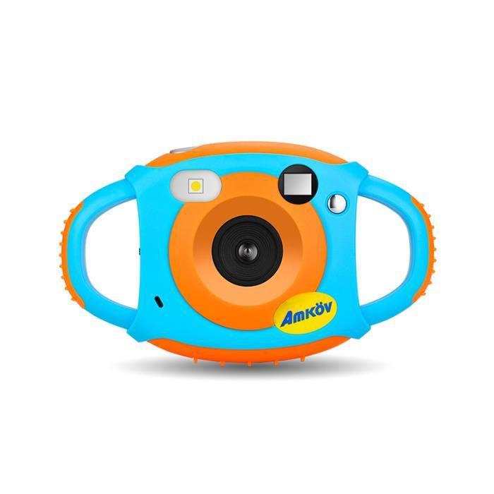 AMKOV Appareil Photo 5 Mega Pixels 1.8 LCD HD Digital Camera Caméra vidéo numérique pour Les EnfantsOrange