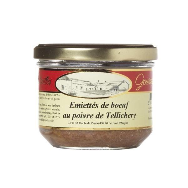 Emietté de boeuf au poivre de Tellichery, Verrine 180 gr