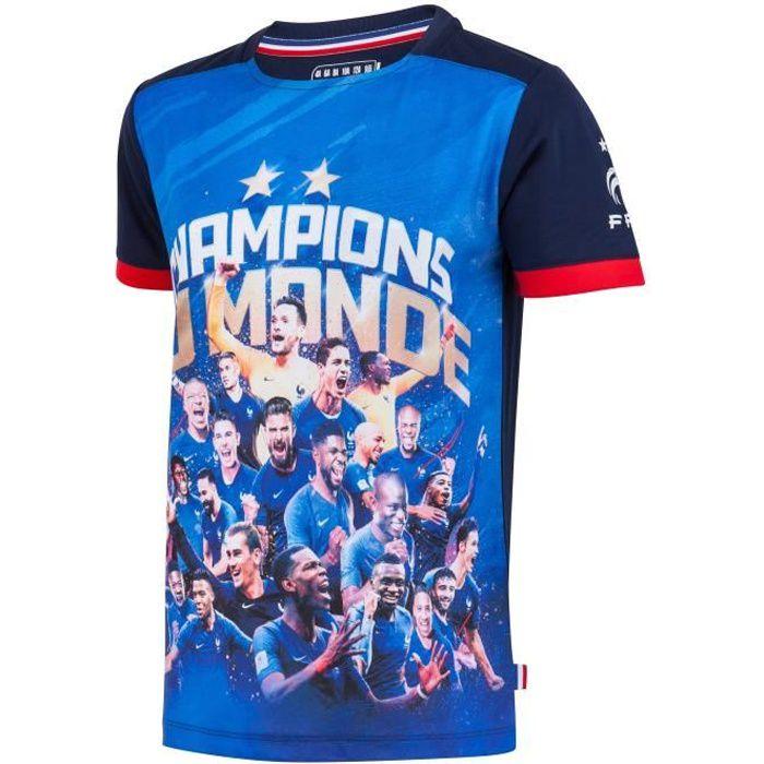 Maillot FFF - Champion du Monde - Collection officielle Equipe de France de Football