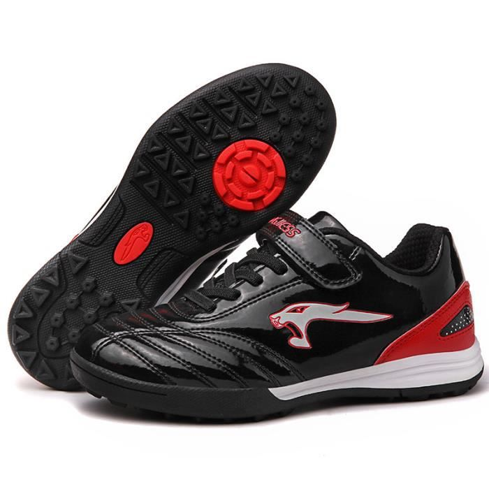 Chaussures de football homme enfant Adolescents Chaussures de Foot basse de sport professionnelles chaussures crampon avec velcros