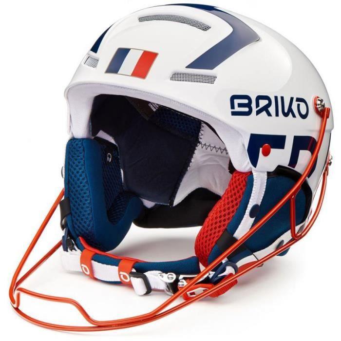 Casque de ski Briko Slalom France Shiny  White Blue  - 2020/2021
