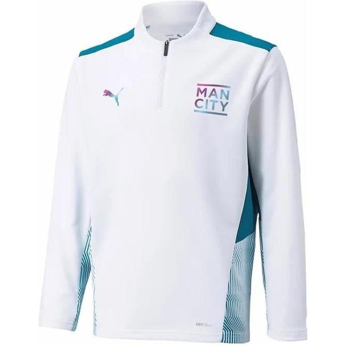 Maillot enfant Training Manchester City 2021/22 - blanc/bleu clair - 10 ans