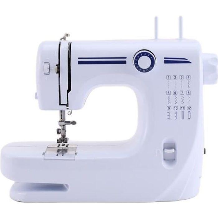 Nidouillet Machine à Coudre pour Débutant avec Kit de Couture y Matériaux de Bricolage du Sac avec 12 Types de Points