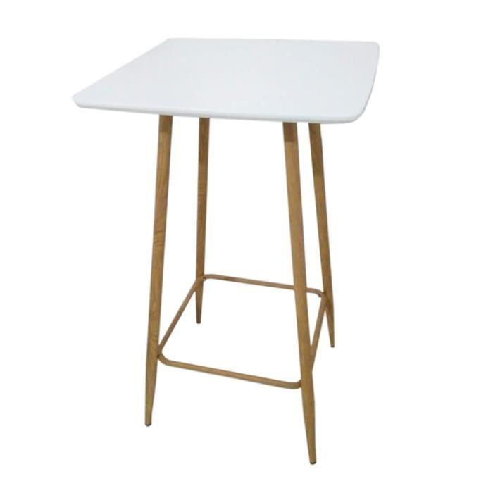 Table haute scandinave Tobias - L. 60 x H. 102 cm - Blanc