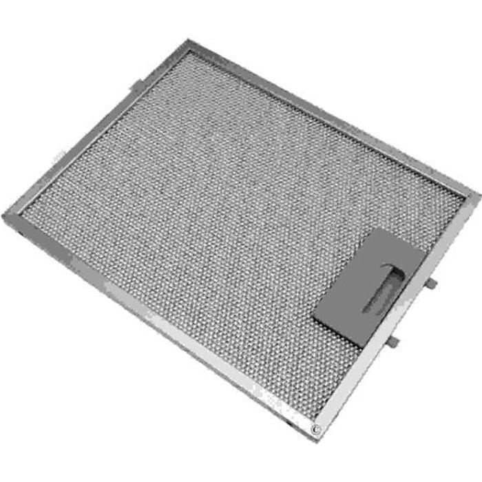 Filtre metal anti graisse (a l'unite) 269x219mm pour Hotte WHIRLPOOL