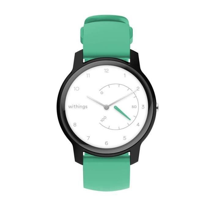 Withings 3700546705496_White, Black - Mint_38mm - COMMUTATEUR KVM - Move Montre connectée White, Black - Mint FR : M (Taille