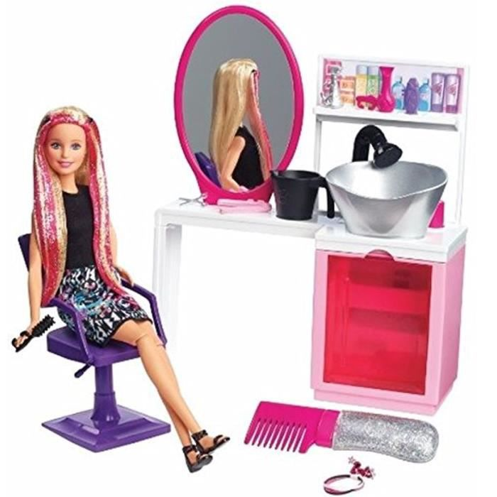 Barbie salon de coiffure et poup e studio coiffure 12889 for Salon de coiffure barbie