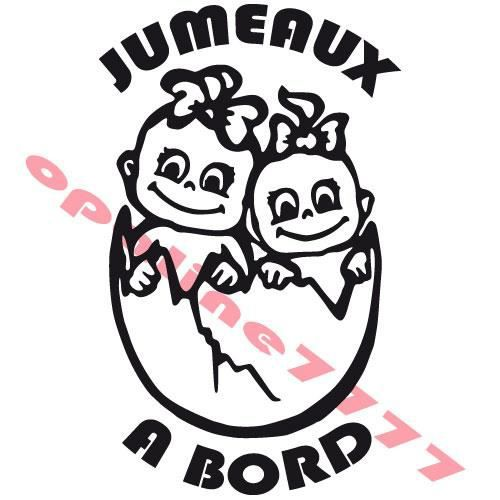 sticker bebes a bord jumeaux jumelles tuning auto achat. Black Bedroom Furniture Sets. Home Design Ideas
