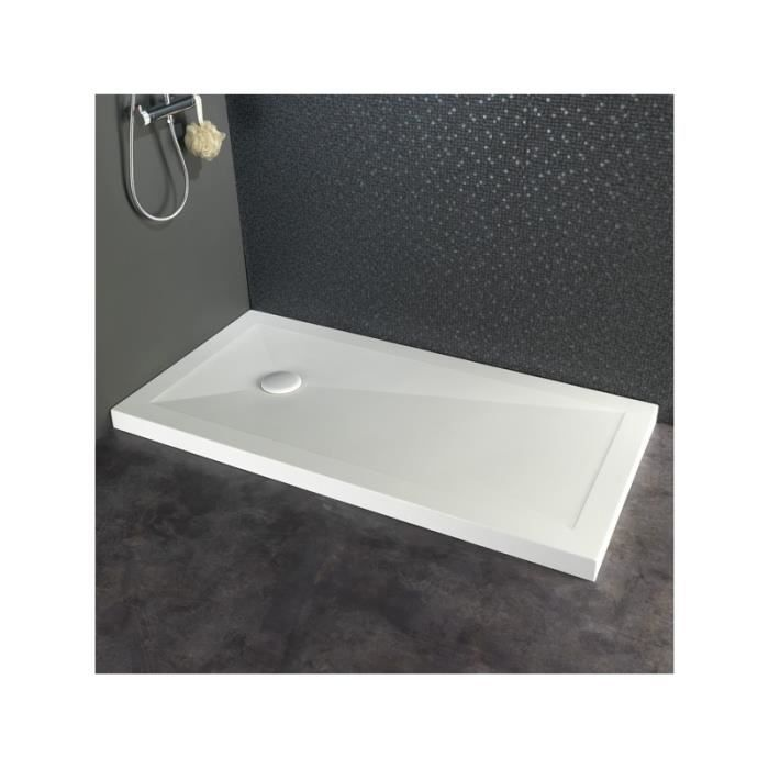 receveur de douche poser 80x160 en solid surface achat vente receveur de douche 523025. Black Bedroom Furniture Sets. Home Design Ideas