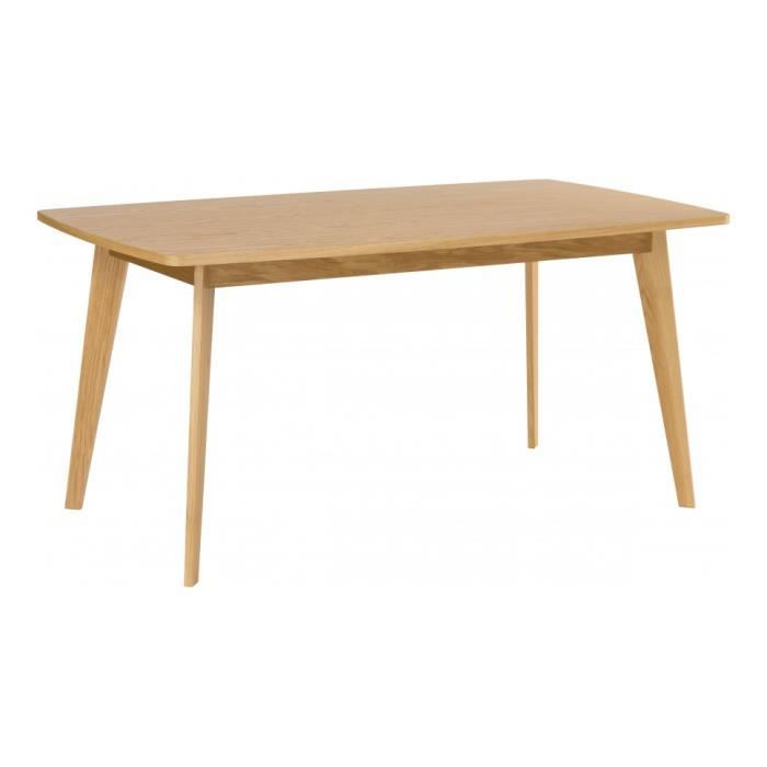 table de repas scandinave ch ne naturel l160 achat vente table a manger seule table de repas. Black Bedroom Furniture Sets. Home Design Ideas