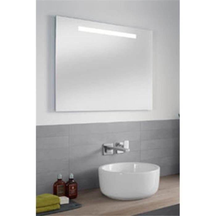 Miroir led more to see one 100x60cm villeroy et boch for Miroir salle de bain led