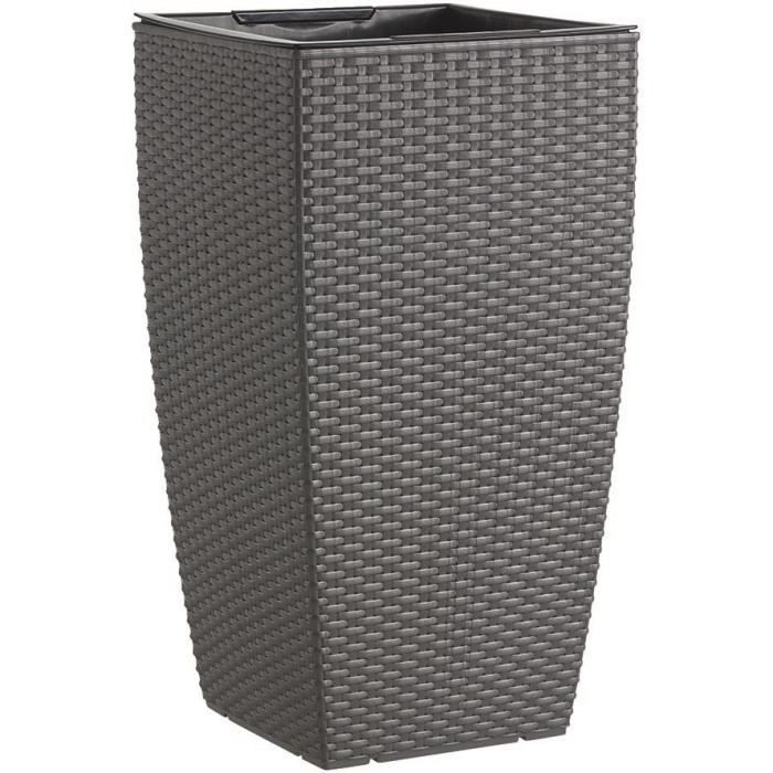 casa mesh pot r serve d 39 eau 36x36x66 cm granite. Black Bedroom Furniture Sets. Home Design Ideas
