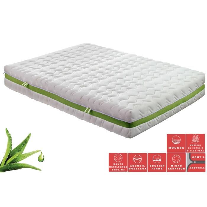 matelas ressorts ensach s ultra tech green 140x190 140x200 cm enrichie 39 alo. Black Bedroom Furniture Sets. Home Design Ideas