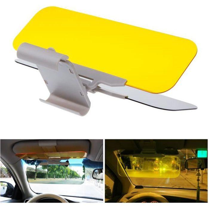 Anti-/éblouissement Lunettes de r/étroviseur pour lunettes de conduite Pare-soleil de voiture 2 en 1 HD pour voiture Anti-UV Protection anti-reflets