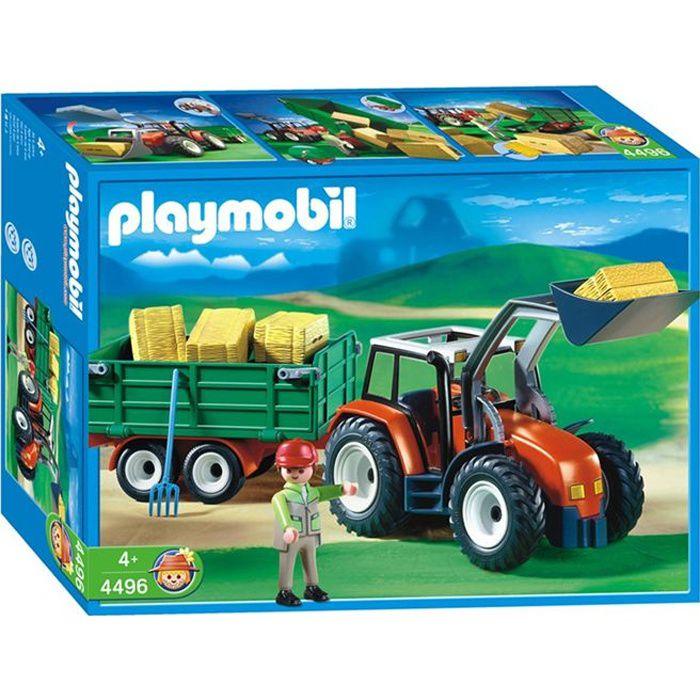 UNIVERS MINIATURE Playmobil Fermier Grand Tracteur