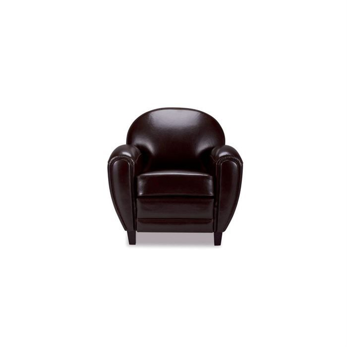 fauteuil club cuir marron achat vente fauteuil cuir. Black Bedroom Furniture Sets. Home Design Ideas