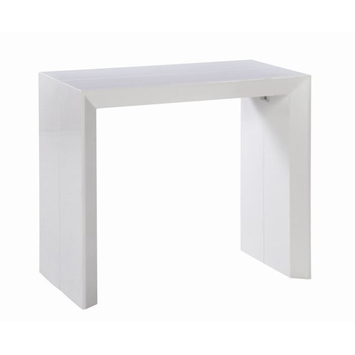 table console extensible extenso laqu e blanc 1 achat. Black Bedroom Furniture Sets. Home Design Ideas