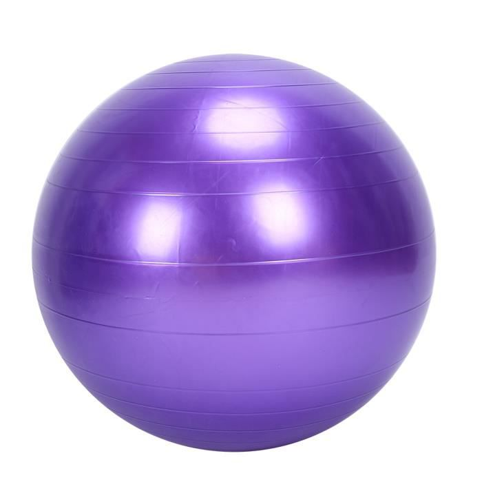ballon de gymnastique sport musculation yoga 75cm avec pompe 500kg fitness post