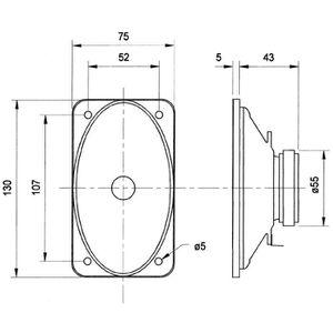 HAUT PARLEUR VOITURE Gamme complète de conducteur ovale 15 W 100 V