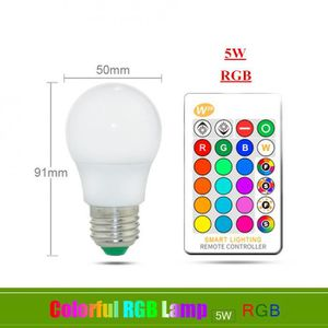 AMPOULE - LED Version E27 5W RGB - 110v 220v E27 Ampoule Led Rgb