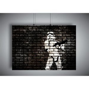 AFFICHE - POSTER Poster BANKSY STORMSTROOPER STREET ART GRAFFITI Wa