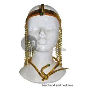 CHAPEAU - PERRUQUE kit bandeau cléopatre avec perles et  collier serp