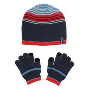 BONNET - CAGOULE COLUMBIA Pack Gants + Bonnet - Enfant - Bleu et ro