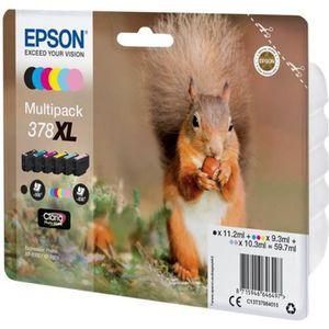 CARTOUCHE IMPRIMANTE EPSON 378XL Multipack - Pack de 6 - XL - Noir, Jau