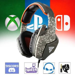 CASQUE AVEC MICROPHONE Casque audio Gamer avec micro camouflage pour PS4