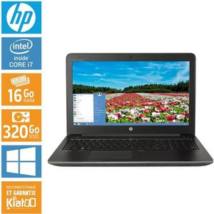 ORDINATEUR PORTABLE Pc portable HP ZBOOK 15 core i7 16 go ram 320 disq