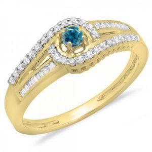 BAGUE - ANNEAU Bague Femme Diamants 0.33 ct  10 ct 471-1000 Or Ja