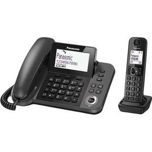 Téléphone fixe Panasonic KX-TGF320E, Téléphone DECT, Haut-parleur