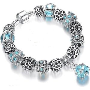 BRACELET - GOURMETTE 21 cm Bracelet Charm Boule Cristal Swarovski* Styl