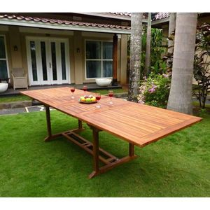 Table de jardin largeur 100 cm
