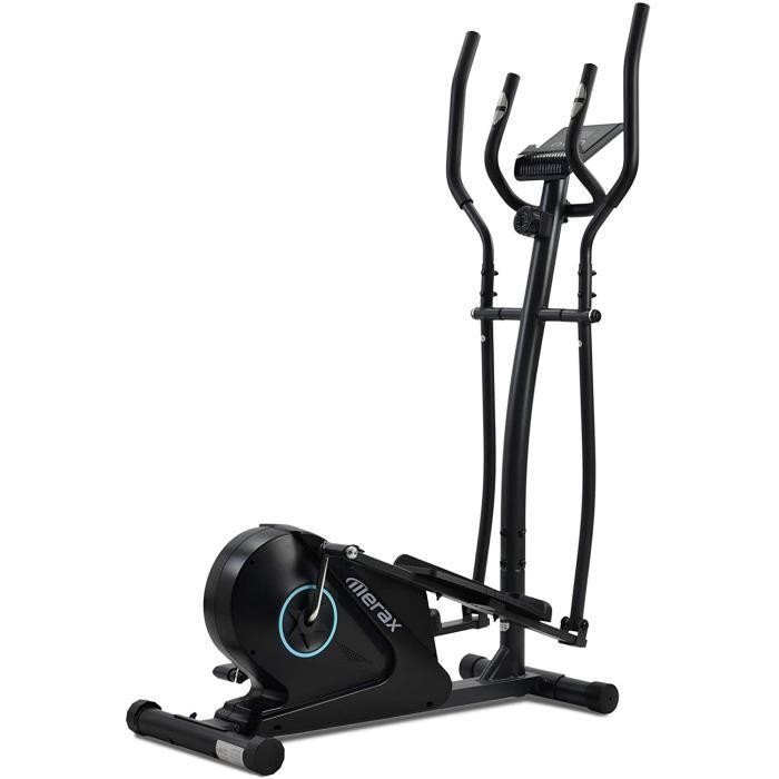 Vélo elliptique avec écran LCD et support pour appareils, vélo elliptique portable pour exercices à domicile avec 8 niveaux de A166