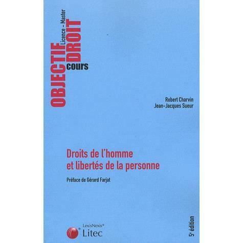 Droits de l'homme et libertés de la personne. 3ème édition - Robert Charvin,Jean-Jacques Sueur