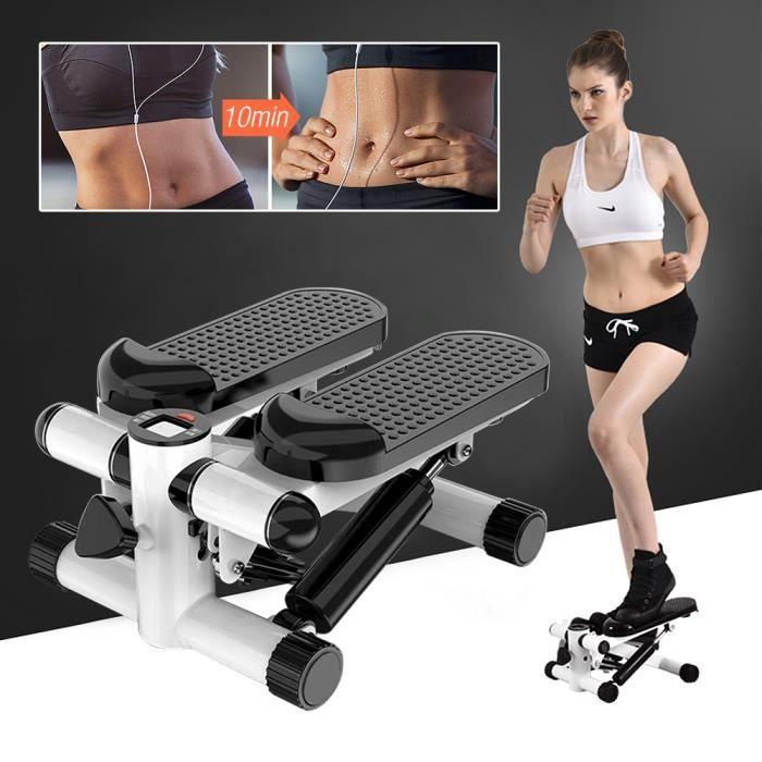 HEk Mini Stepper Twister Fitness D'appartement Portantes Hydraulique 150kg Affichage Numérique Réglable