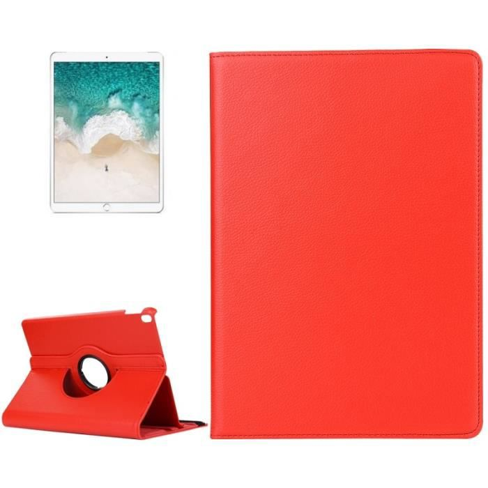 (#52) For Ipad Pro 10.5 inch Litchi Texture 360 Degree Spin Multi function Flip Leather Protective Case (Red)