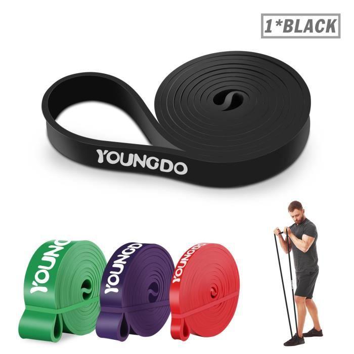 Youngdo Elastique pour Sport, Elastique de Sport Musculation, Bande de Résistance pour Exercer Musculation, 1*noir