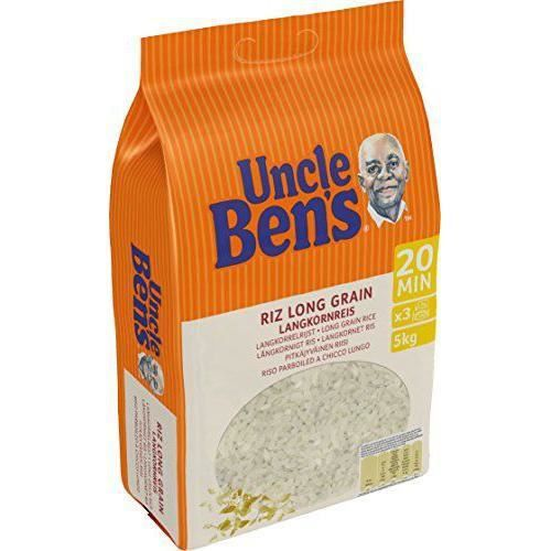 UNCLE BEN`S Riz Long Grain Tradition Cuisson 20 Min Vrac sans Gluten 5 kg - 199969