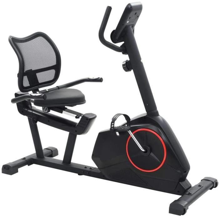 Vélo Semi-Allongé d'exercice Masse en Rotation 10kg Appareil de Fitness[341]